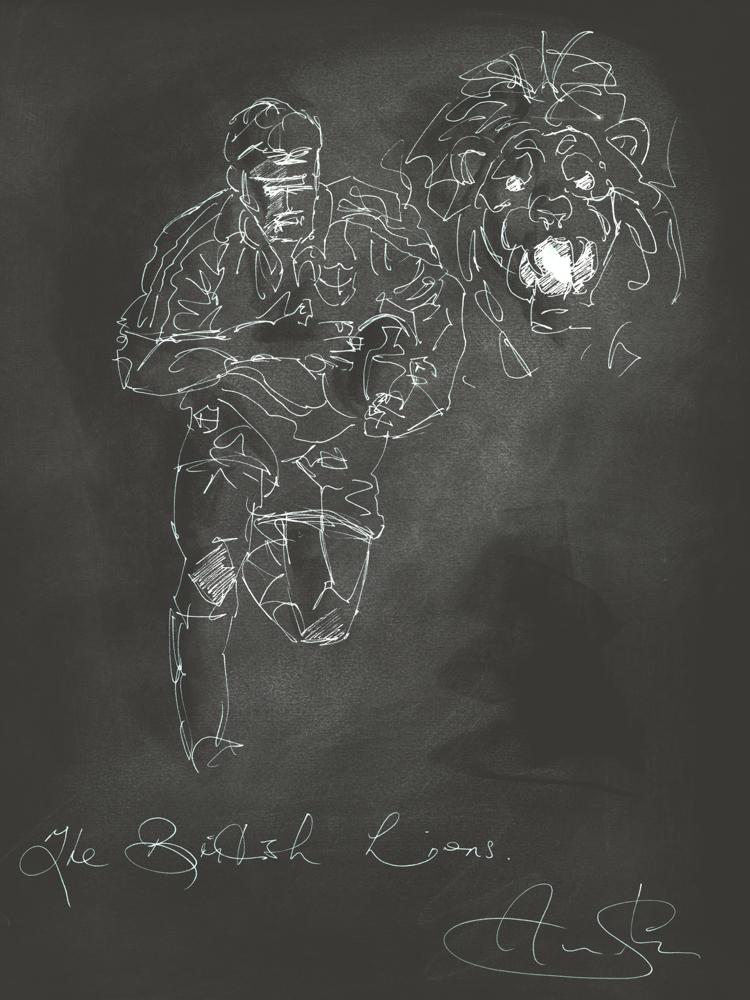 British Lions Rugby Black
