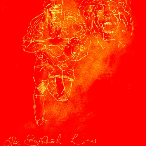 British Lions Rugby Red